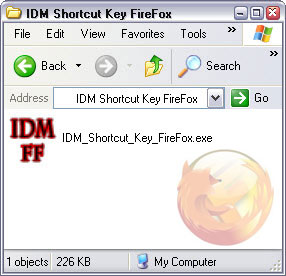 IDM Shortcut Key For FireFox