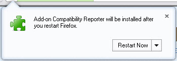 Add-on-Compatibility Reporter Install & Restart Firefox